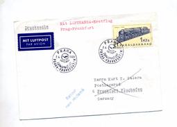 Lettre Premier Vol Lufthansa Prague Frankfurt - Airplanes