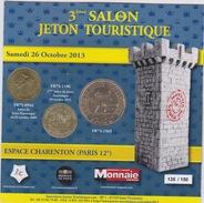 MDP Encart Du Salon Jeton Touristique 2013 - Monnaie De Paris