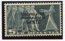 Switzerland, International Offices, 1948, WHO, World Health Organization, 5 Fr., MNH, Michel 24 - Service