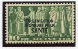 Switzerland, International Offices, 1950, WHO, World Health Organization, 10 Fr., MNH, Michel 25 - Service