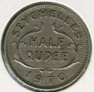 Seychelles 1/2 Rupee 1970 KM 12 - Seychelles