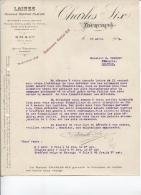 TOURCOING - FILATURE DE LAINES - Ets CHARLES SIX - DATE 1919 - Vestiario & Tessile