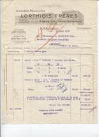 LILLE CANTELEU - FILTERIE RETORDERIE ... - Ets LORTHIOIS Frères - Date 1937 - Vestiario & Tessile