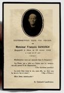 Image Pieuse Holy Card Décès F. Guivarch Landivisiau 18-04-1922 - Ed Roblot PL 353 Imp Guivarch - Notre Séparation Ne .. - Devotion Images