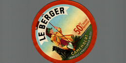 ETIQUETTE CAMEMBERT LE BERGER A MAULEVRIER ANJOU - Fromage