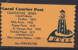 USA Modern Local Post  - Local Courier Post - Lighthouse Series - California - Autres