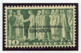 Switzerland, International Offices, 1944, BIE, International Education Bureau, 10 Fr., MNH, Michel 21 - Service