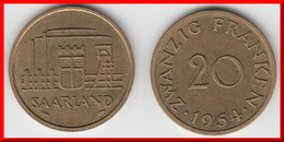 **** SARRE - SAARLAND - 20 FRANKEN 1954 **** EN ACHAT IMMEDIAT !!! - Saarland