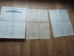 3 LETTRES DE  GEORGES LECLERC DE POITIERS ANNEE 1921 SUJET VERASCOPE APPAREIL PHOTO SOCIETE  JULES RICHARD - Autógrafos