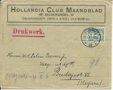ZPBentier001 - Lettre Avec Beaux Cachets Recto/Verso - Pays Bas 1911 - Groningen 11-05-1911 Vers Budapest - A Voir - 1891-1948 (Wilhelmine)