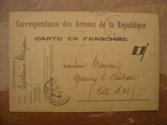 1915 WWI Carte Correspondance  Franchise Militaire Armee Capitaine DANJEAN - 1914-18