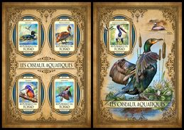 CHAD 2017 - Pelican, Water Birds M/S + S/S. Official Issue.