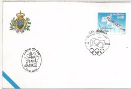 SAN MARINO FDC COMITE OLIMPICO INTERNACIONAL OLYMPIC - Olympische Spelen