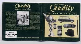 QUALITY BERNARD RAPP OBJETS D'EN FACE EDITION DU MAY Format 95 X 95mm 72 Pages - Publicidad
