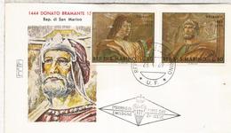 SAN MARINO FDC BRAMANTE ARQUITECTURA ARTE PINTURA - Arte