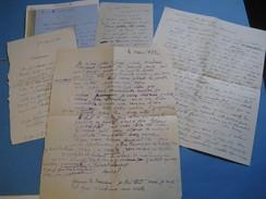 5 LETTRES AUTOGRAPHES SIGNEES D'ANTOINETTE DE FAUCAMBERGE DITE AUREL 1917-22 POETESSE ROMANCIERE à J. CATULLE-MENDES - Autographes