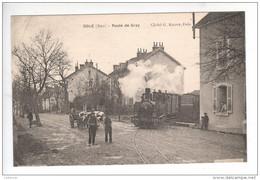 (n°726)  CPA  39 DOLE Route De GRAY Train Tramway N° 16 CFV ____neuve Luxe Animation  Sans Défaut - Dole