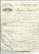 Facture  De HEYRIES-SENCIER&Cie Vins De Bourgogne A CHAGNY_ Adressé A Mr DEMAISON  HOTEL A La Caille 74 - Alimentos