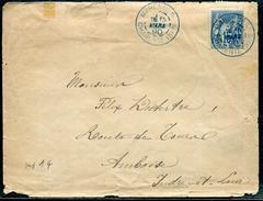 CHARENTE INFERIEURE - N° 90 OBL. MARENNES LE 15/3/1890 EN BLEU, FATIGUÉE MAIS TB - Marcophilie (Lettres)