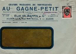 Enveloppe Commerciale 1949 / Au Gagne Petit / Elie De RAFFIN / Vêtements / Alger / Algérie - Autres