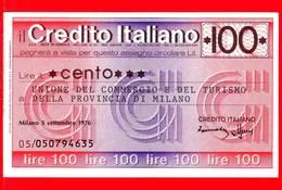 MINIASSEGNI - CREDITO ITALIANO  - FdS - CI100030976C - [10] Assegni E Miniassegni