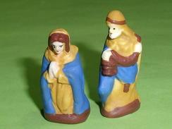 Fèves / Santons : Roi Mage , Vierge  (  Lot De 2 Feves )  T27 - Santons