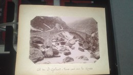 Photo -  COL DE ST GOTHARD - Vieux Pont Sur La Reuss - Lieux