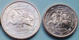 Eurocoins Lithuania 1+2 Cents 2017 UNC / BU (2 Coins) - Lituanie