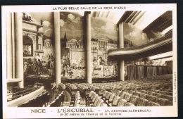 NICE  - CPSM - L'ESCURIAL  Av G. Clemenceau- La Plus Belle Salle De NICEl  - Recto Verso Paypal Sans Frais - Monuments