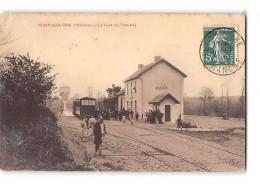 CPA 50 Tessy Sur Vire La Gare Et Le Train Tramway Ligne De Sourdeval Saint Lo - France