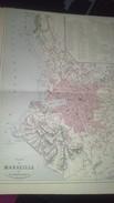 Carte Géographique : PLAN DE MARSEILLE Par V.A. MALTE-BRUN) - Mapas Geográficas