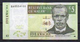 534-Malawi Billet De 5 Kwacha 2004 BA055 - Malawi