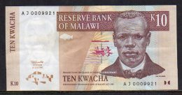 528-Malawi Billet De 10 Kwacha 1997 AJ000 - Malawi