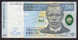 528-Malawi Billet De 200 Kwacha 1997 AD918 - Malawi