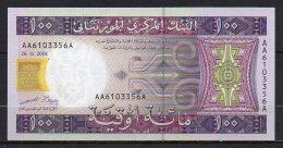 529-Mauritanie Billet De 100 Ouguiya 2004 AA610A Neuf - Mauritania