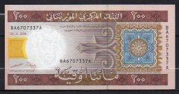 529-Mauritanie Billet De 200 Ouguiya 2004 BA670A Neuf - Mauritanie