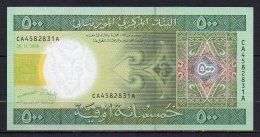 529-Mauritanie Billet De 500 Ouguiya 2004 CA458A Neuf - Mauritanie