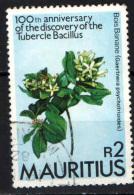 MAURITIUS - 1982 - CENTENARIO DELLA SCOPERTA DEL BACILLO DELLA TUBERCOLOSI - USATO - Mauritius (1968-...)