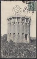 POS-721 CUBA POSTCARD. 1910. OLD SPANISH FORT. FUERTE ESPAÑOL TO SWITZERLAND. - Cuba
