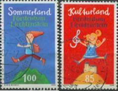Timbre De Liechtenstein 2006: Vacances 85 + 100 - Stamp - Used - Oblitere - Briefmark