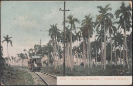 POS-779 CUBA POSTCARD. CIRCA 1910. GUANAJAY FERROCARRIL. RAILROAD - Cuba