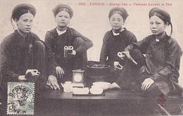 26220 VIET NAM - TONKIN - Quang-yen -femmes Buvant Le The  - 332 Dieulefils -tea - Viêt-Nam