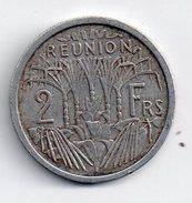 REF 1  : Monnaie Coin France Ile De La Réunion 2, Francs Frs 1948 - Réunion