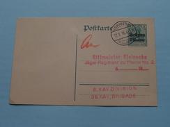 Postkarte - CP / PK Jager Regiment Zu Pferde N° 2 - 8 KAV Division - 38 KAV Brigade ( Verviers 1916 ( Zie Foto ) ! - Stamped Stationery