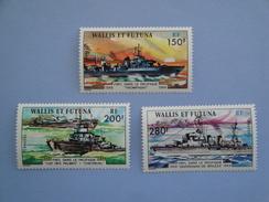 1978  Wallis Et Futuna  Yvert  210/2 ** War II  Bateaux Ships Scott 207/9  Michel 308/10 SG  287/9 - Wallis-Et-Futuna