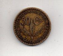 REF 1  : Monnaie Coin CAMEROUN 1925 Territoire Sous Mandat De La France 50 Centimes - Cameroun