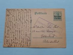 Postkarte - CP / PK Bruxelles < Verviers ( CTR 1915 ( Zie Foto ) ! - German Occupation
