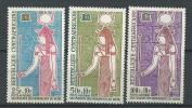 """Centrafrique Aerien YT 18 à 20 (PA) """" Monuments De Nubie """" 1964 Neuf** - República Centroafricana"""