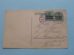 Postkarte - CP / PK Monnickendam Holland < Leuven ( Antwerpen 1915 ( Zie Foto ) ! - Stamped Stationery