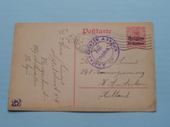 Postkarte - CP / PK Amsterdam Holland < Borgerhout Antwerp ( Antwerpen 1916 ( Zie Foto ) ! - German Occupation